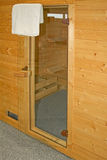 Sauna entrance Royalty Free Stock Photography