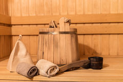 Sauna equipment Royalty Free Stock Image