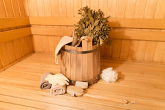 Sauna equipment Stock Images