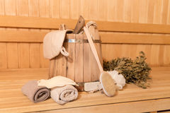 Sauna equipment Royalty Free Stock Photography
