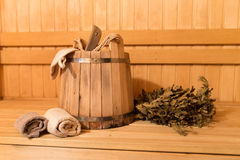 Sauna equipment Royalty Free Stock Photo