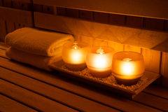 Sauna equipment Royalty Free Stock Photography