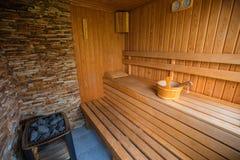 Sauna für Aromatherapie stockfotos