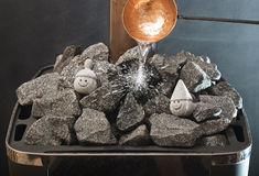 Sauna finlandais Photos stock