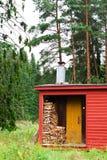 Sauna finlandais traditionnel Photographie stock libre de droits