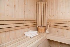 Sauna finlandesa Foto de archivo