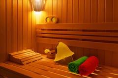 Sauna finlandesa tradicional Fotos de archivo