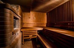 Sauna finlandese Immagine Stock Libera da Diritti