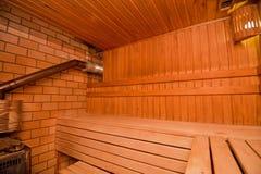 Sauna finlandese Fotografia Stock