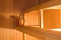 Sauna finlandese Fotografia Stock Libera da Diritti