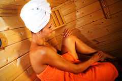 Sauna girl 2 Stock Image