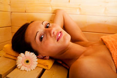 Sauna girl Stock Photos
