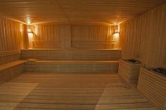 Sauna grande en balneario de la salud Fotografía de archivo