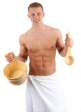 Sauna guy Stock Photos