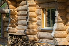 Sauna is healthy. / Finnish Sauna with hot dry steam Royalty Free Stock Photos