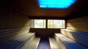 Sauna hete leeg stock videobeelden