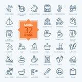Sauna Icon set. Vector Illustration Royalty Free Stock Image