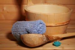 Sauna II. Spa essentials - see also my serie Sauna Stock Photos