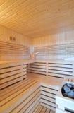 sauna intérieur Photo stock