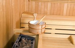 Sauna interior Royalty Free Stock Image