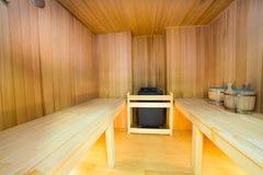 Sauna interior Royalty Free Stock Image
