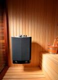 Sauna interior. Modern finnish sauna interior wiew Stock Photos