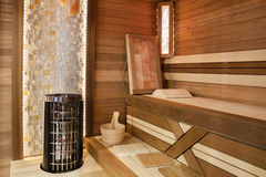 Sauna interior Stock Photography