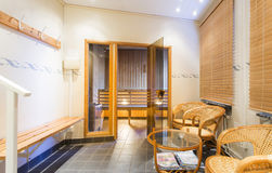 Sauna interior Stock Image