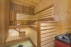 Sauna interior Stock Images
