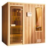 Sauna. Isolated image of small wooden sauna cabin Royalty Free Stock Photo