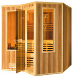 Sauna. Isolated image of small wooden sauna cabin Stock Images
