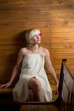 sauna kobieta zdjęcia stock