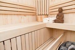 Sauna, kuuroord en meditatie Stock Foto