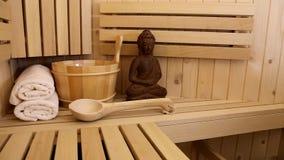 Sauna stock video footage