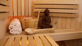 Sauna and meditation place stock video