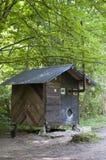 Sauna in montagne della lucidatura della foresta - Biszczady Fotografie Stock Libere da Diritti