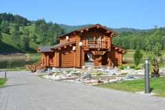 Sauna in the mountains Stock Photos