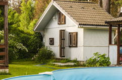 Sauna nella casa di campagna Immagini Stock Libere da Diritti