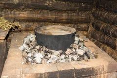 Sauna nera Immagini Stock Libere da Diritti