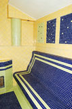 Sauna nos TERMAS na estância de esqui Imagens de Stock Royalty Free