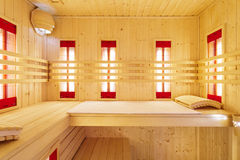 Sauna privé en appartement de luxe photos libres de droits