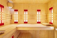 Sauna privada en el apartamento de lujo fotos de archivo libres de regalías