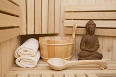 Sauna, relaxation and wellness Stock Images
