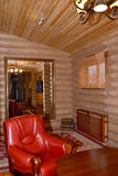 Sauna restroom interior fragment. Center of rest Stock Photo