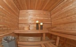 Sauna romantica Fotografia Stock Libera da Diritti