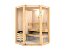 Sauna room Stock Photography