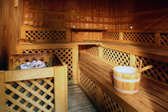 Sauna room Stock Image