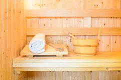 Sauna room Stock Photo