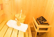 Sauna room Stock Photos