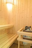 Sauna room Royalty Free Stock Images